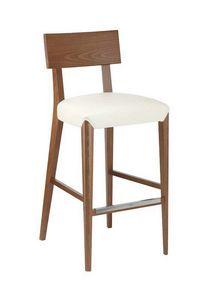 C40SG, Tabouret en bois, siège rembourré, recouvert de tissu, pour bars et restaurants