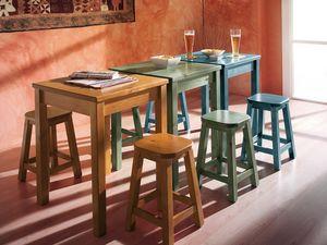 Collection Amb 06, Tabouret en bois dans un style rustique, pour les bars à vin et salons