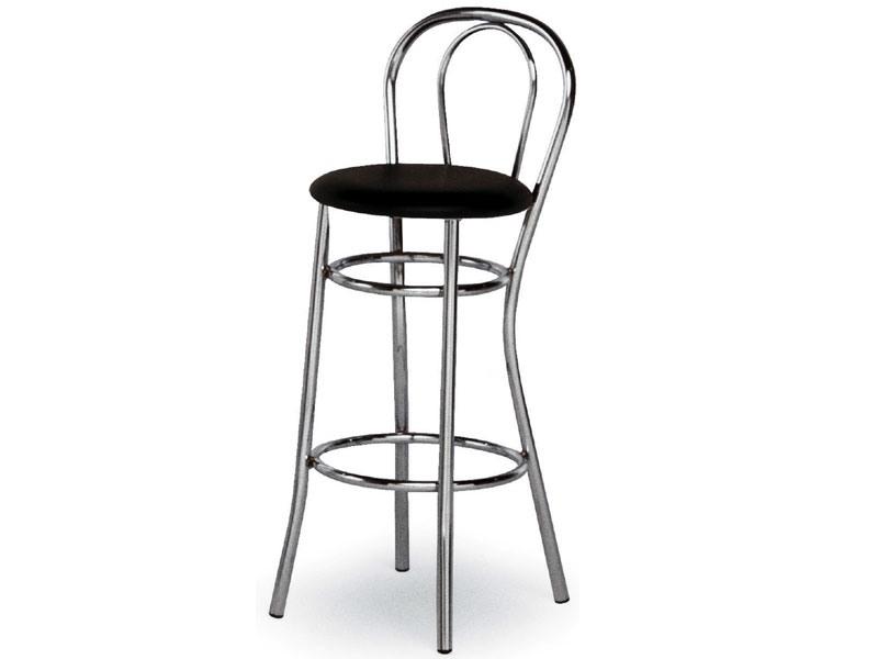 537, Barstool en acier chromé courbé, pour snack-bars
