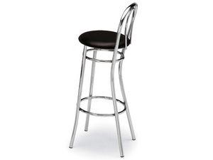 538, Barstool en acier courbé, siège rond, pour snack-bars