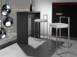 Art. 557 Prisma, Tabouret empilable avec assise en cuir imitation
