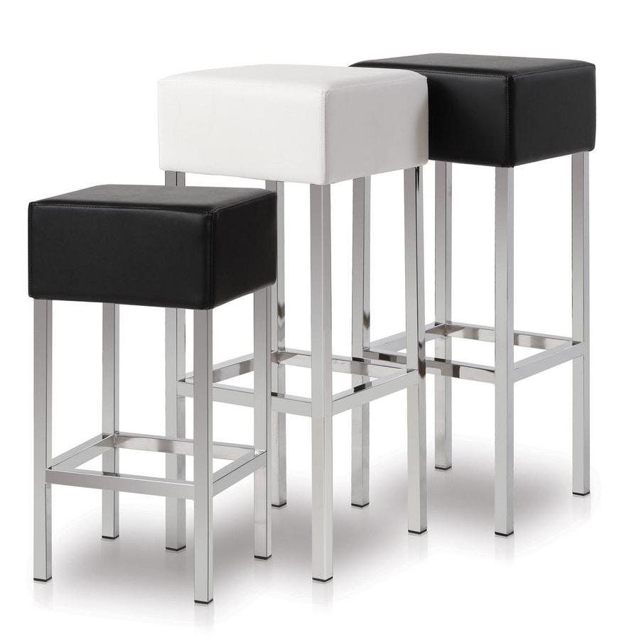 Cubo, Tabouret avec assise carrée