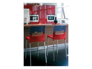 Diva stool h.65 / h.75, Tabouret empilable en plastique et de l'aluminium
