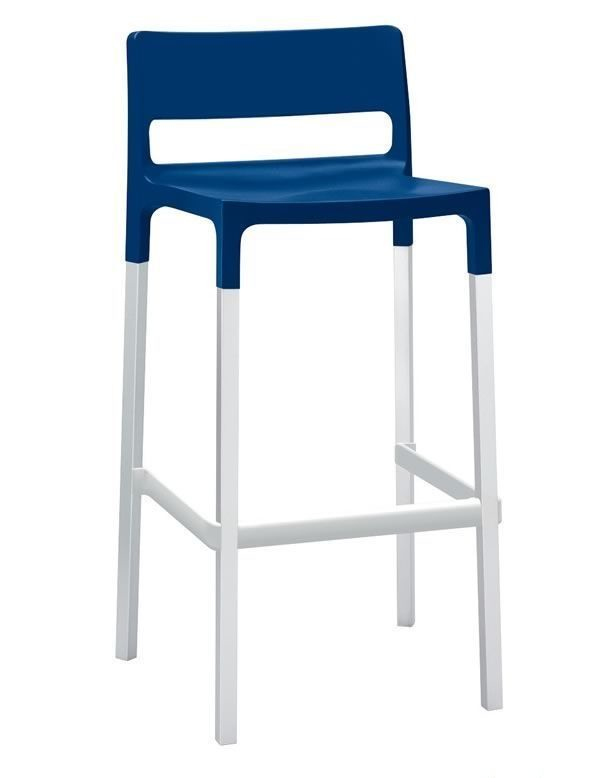 Divo stool, Tabouret empilable pour en plein air, style moderne