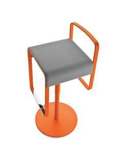 Kyro, Tabouret en métal avec assise rembourrée pour bars et cuisines