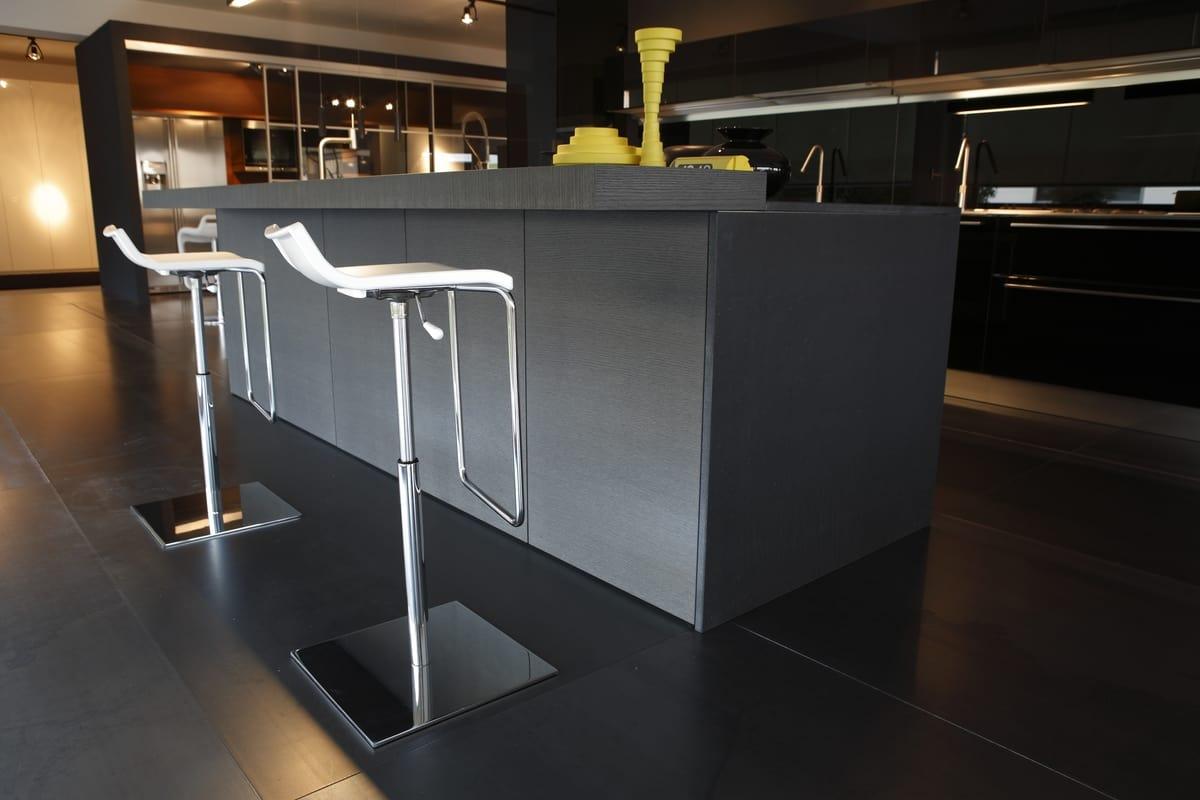 Micro X, Tabouret avec base en métal chromé, ascenseur de gaz