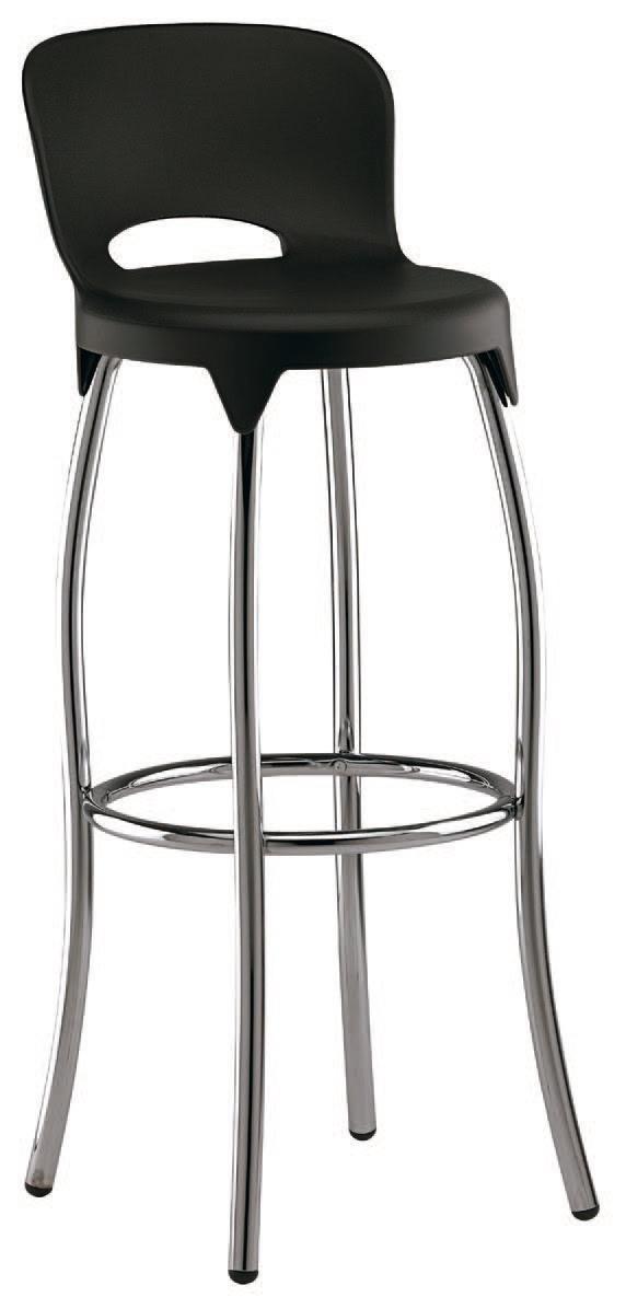SG 031, Tabouret en métal avec coque en plastique, pour les cuisines