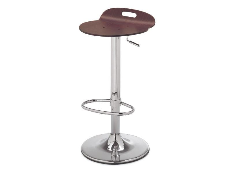 SG 339, Tabouret en métal avec siège en bois, pour la cuisine