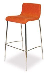 SG 352, Tabouret en métal chromé, avec siège rembourré, pour les bars