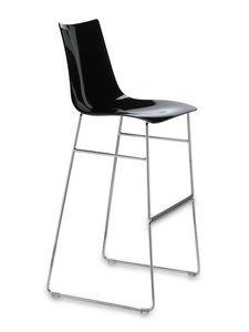 Zebra tabouret antishock sled base H80, Tabouret en métal et un polycarbonate, un siège fixe