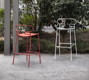 ART. 0049-MET-PU-STOOL GENOA, Tabouret en métal, aussi pour l'extérieur