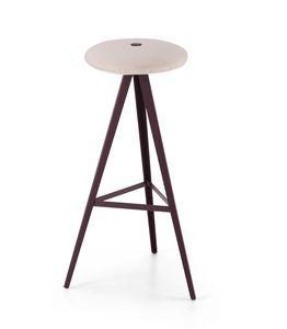ART. 0122-H78-MET-IMB AKY, Tabouret avec assise rembourrée, hauteur 78 cm