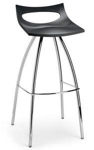 Diablito stool, Tabouret en métal et le polypropylène, le siège fixe