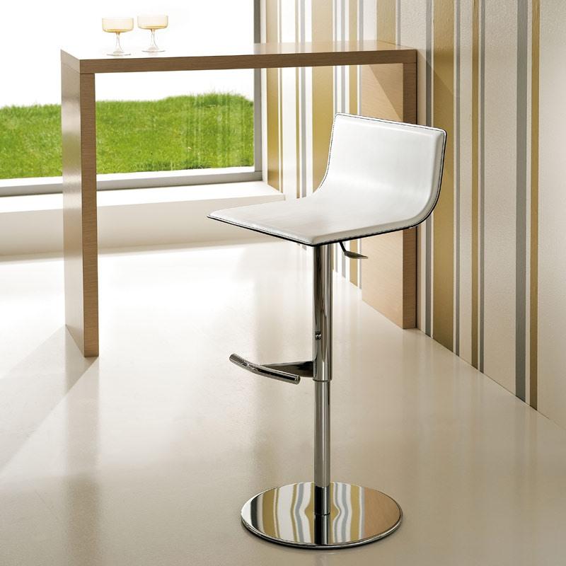 ART. 233/A LIFT, Barstool réglable moderne, ascenseur de gaz, siège en cuir