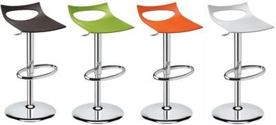 Diavoletto stool, Tabouret pivotant, réglable en hauteur par vérin pneumatique