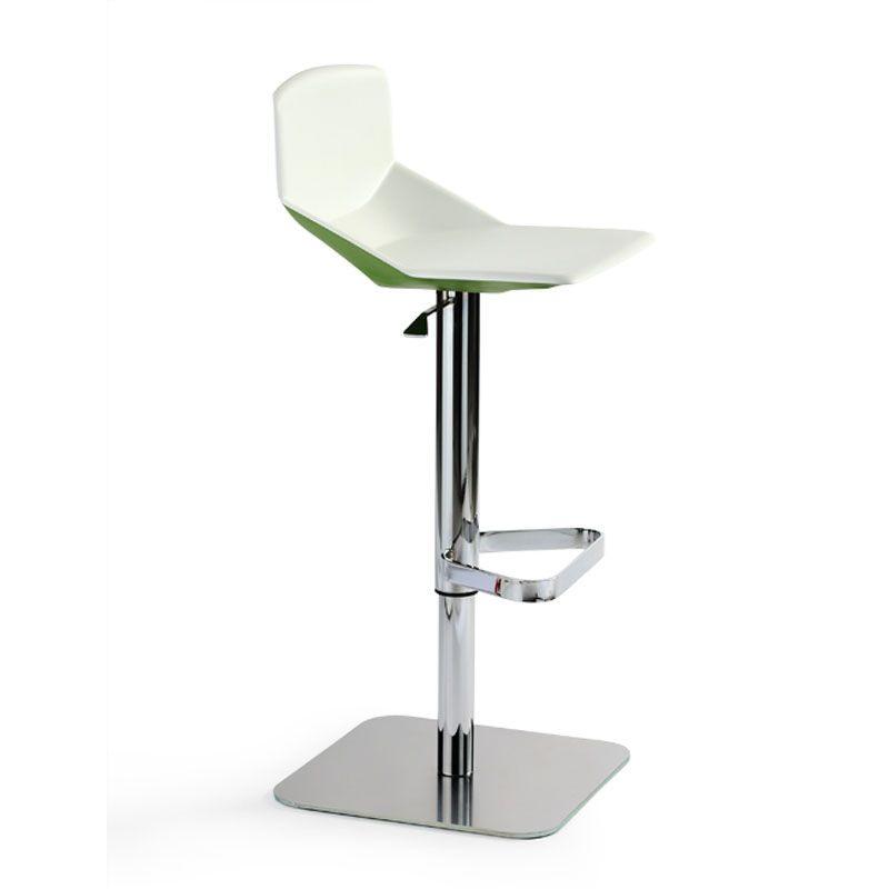 Formula tech ST-ADJ, Tabouret avec un design minimaliste, réglable en hauteur et pivotant, pour comptoir de la cuisine et le bar