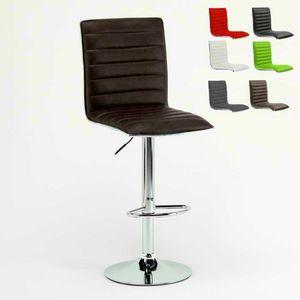Tabouret Chaise de cuisine en aluminium Detroit – SGA043DET, Tabouret rembourré, robuste et confortable, pour la cuisine