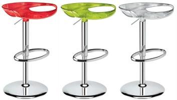 Zoe stool, Pivotant et réglable tabouret, plusieurs couleurs