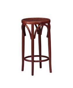 125, Tabouret avec siège rond, bois courbé, pour le restaurant