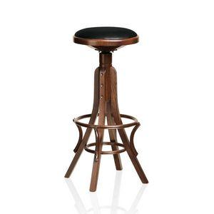 Achtung, tabouret en bois de hêtre courbé, pour les pubs et les bars