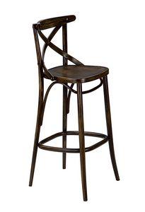 Golia SG, Tabouret de bar en bois courbé, pour les pubs et tavernes