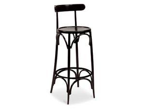 SG/10037, Tabouret avec repose-pieds en bois, pour les bars et pubs