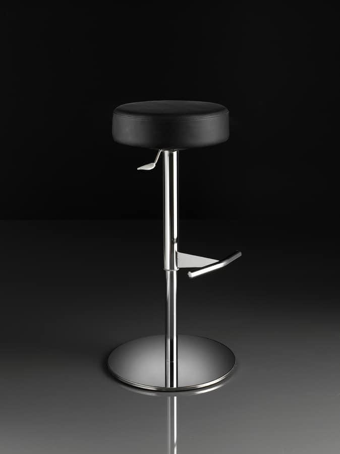 ART. 244/B CAP, Tabouret avec siège rond, ascenseur de gaz, pour les restaurants