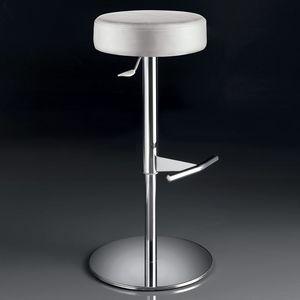 ART. 244/B SOFT, Tabouret pivotant, réglable en hauteur, avec siège rond