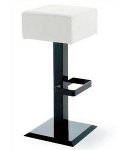 CG 89724 SG, Tabouret en métal avec base carrée noire
