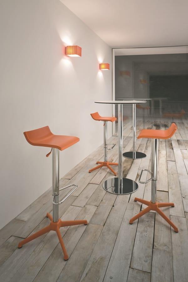 Over stool, Tabouret de bar moderne réglable, en acier chromé