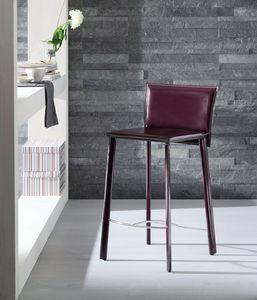 Infinity tabouret, Tabouret recouvert de cuir, disponible en différentes couleurs, pour l'hôtel et cuisine