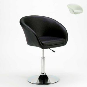 Tabouret pivotant en simili cuir AUSTIN Design moderne - SGA810AUS, Tabouret avec base large et accoudoirs