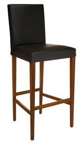 SG 1012, Tabouret en bois avec assise et dossier rembourrés