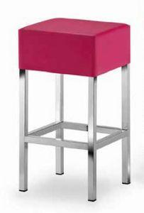 Cube-T, Tabouret rembourré avec assise carrée