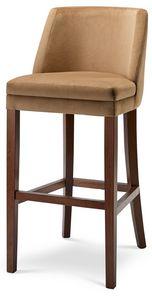MILANO SG, Tabouret en bois avec assise rembourrée