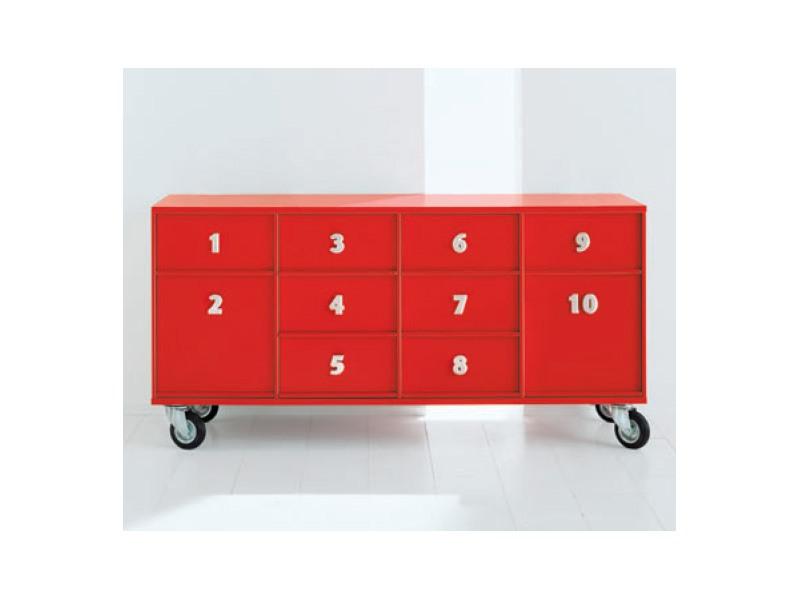 TOOLBOX comp.02, Containers pour des documents avec des roues, pour la réception