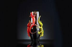 4 Gechi Big Vase, Vase en verre artisanal