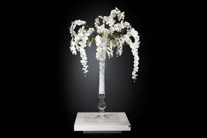 Eternity Vaso Madame Butterfly, Vase en verre avec arrangement floral
