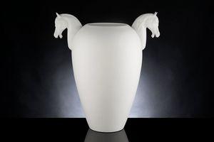 Horse Big Vase, Vase décoratif en céramique travaillée