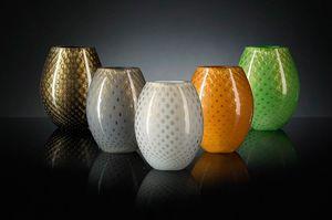Mocenigo Vase Oval, Vase en verre ovale