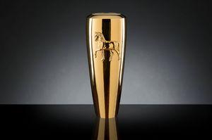 Obice Horse Relief Vase, Vase décoratif moderne