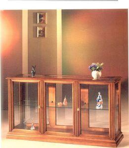 2060 VITRINE, Vitrine horizontale en bois et verre, style classique