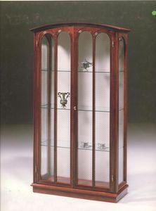 2230 VITRINE, Classique vitrine de luxe pour le salon, avec 2 portes