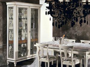 Armonie vitrine, Vitrine avec tiroirs int�rieurs et �tag�res en verre