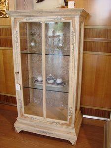 Art. 510, Vitrine 1 porte, fenêtres de cuivre, pour le salon