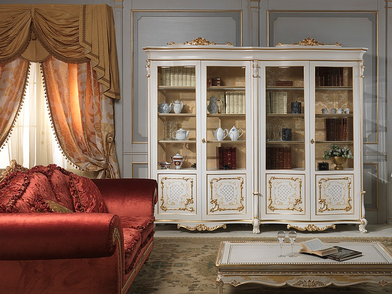 Art. 9007 vetrina showcase, Élégante vitrine de luxe, faite en bois massif