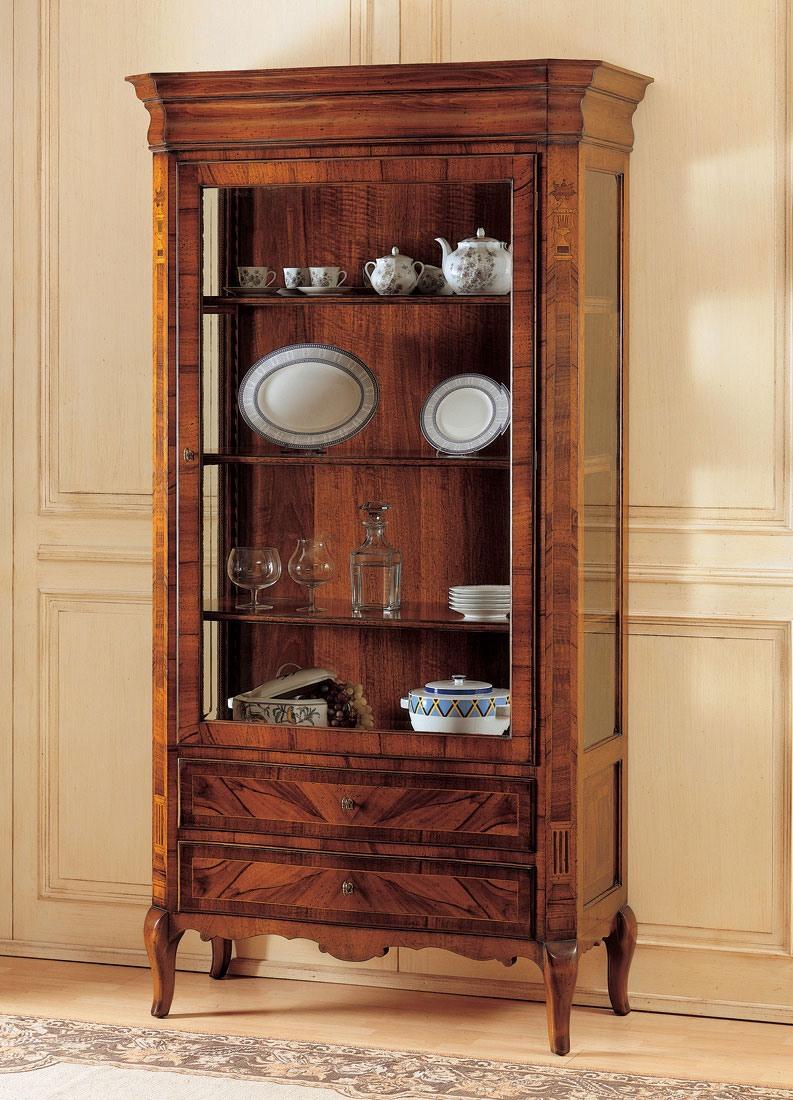 Art. 903, Vitrine en bois décoré, style '800 français