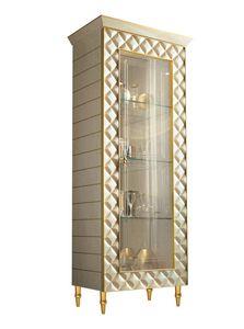 SIPARIO vitrine 1, Vitrine de luxe classique avec des losanges décoratifs