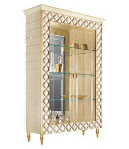 SIPARIO vitrine 2, Vitrine de style classique avec des décorations d'or