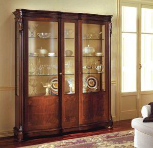 Canova vitrine, Vitrine classique avec portes lat�rales en verre incurv�e